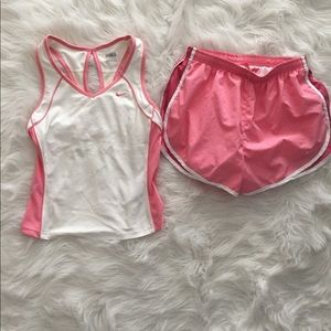 Nike Fit Dry Running Top with matching shorts